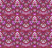 Seamless zigzag pattern dark red violet purple green Stock Photo