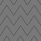 Seamless zigzag pattern. Stock Photography