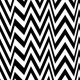 Seamless zigzag pattern of parallel lines. Geometric wave. Seamless background with horizontal black stripes in zigzag. Stock Photography