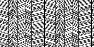 Seamless zigzag pattern 1 Royalty Free Stock Images