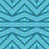Seamless zigzag pattern turquoise blue brown Royalty Free Stock Photo