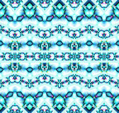 Seamless zigzag pattern turquoise blue gray purple Stock Images