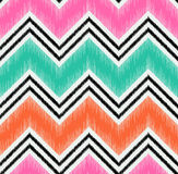 Seamless zigzag stripes textured fabric Royalty Free Stock Photography