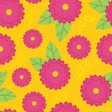 seamless zinnia för bakgrund Royaltyfria Bilder