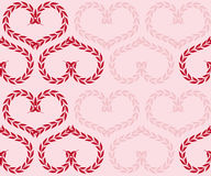 Seamlessbackground with hearts. Seamless pink background with hearts from plants Royalty Free Stock Image