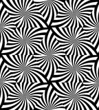 SeamlessBlack en Wit Golvend Driehoekenpatroon Royalty-vrije Stock Afbeelding