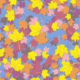 1005SeamlessFoliage00. Seamless texture, abstract illustration of maple leaves Stock Illustration