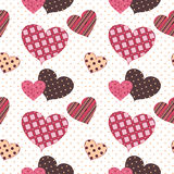 SeamlessHearts. Seamless pattern on Valentine's day Royalty Free Stock Photography