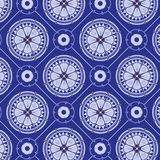 Seamlessly blue floral pattern Stock Images