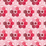 Seamlessly hexagonal floral pattern. Seamlessly hexagonal pattern with floral elements, pattern swatch included Royalty Free Stock Images