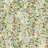 Seamlessly pattern with flowers Royalty Free Stock Image