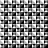 Seamlessly repeatable black and white mosaic pattern. Tessellati Royalty Free Stock Image