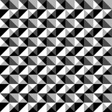 Seamlessly repeatable black and white mosaic pattern. Tessellati. On, geometric grayscale background - Royalty free vector illustration Royalty Free Stock Image