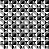 Seamlessly repeatable black and white mosaic pattern. Tessellati. On, geometric grayscale background - Royalty free vector illustration Stock Photos