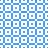 Seamlessly repeatable dotted, polka dot pattern. Pattern with mo. Saic of circles. - Royalty free vector illustration Royalty Free Stock Photo
