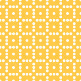 Seamlessly repeatable dotted, polka dot pattern. Pattern with mo. Saic of circles. - Royalty free vector illustration Stock Photo