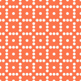 Seamlessly repeatable dotted, polka dot pattern. Pattern with mo Stock Images