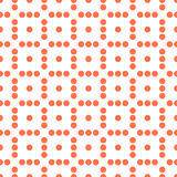 Seamlessly repeatable dotted, polka dot pattern. Pattern with mo. Saic of circles. - Royalty free vector illustration Royalty Free Stock Photography