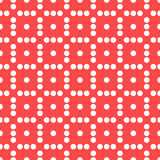 Seamlessly repeatable dotted, polka dot pattern. Pattern with mo. Saic of circles. - Royalty free vector illustration Royalty Free Stock Photos