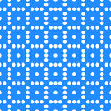 Seamlessly repeatable dotted, polka dot pattern. Pattern with mo. Saic of circles. - Royalty free vector illustration Stock Image