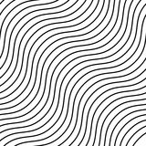 Seamlessly repeatable geometric monochrome pattern with distorte Royalty Free Stock Photography