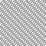 Seamlessly repeatable geometric monochrome pattern with distorte. D lines - Royalty free vector illustration Stock Images