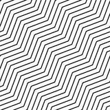 Seamlessly repeatable geometric monochrome pattern with distorte. D lines - Royalty free vector illustration Royalty Free Stock Photography