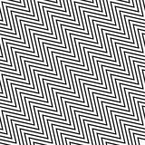 Seamlessly repeatable geometric monochrome pattern with distorte. D lines - Royalty free vector illustration Royalty Free Stock Photos