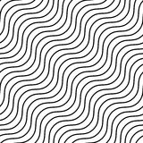 Seamlessly repeatable geometric monochrome pattern with distorte. D lines - Royalty free vector illustration Royalty Free Stock Photo