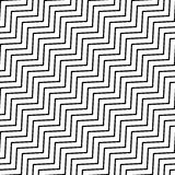 Seamlessly repeatable geometric monochrome pattern with distorte. D lines - Royalty free vector illustration Stock Photography