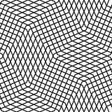 Seamlessly repeatable geometric monochrome pattern with distorte Royalty Free Stock Photos
