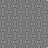 Seamlessly repeatable geometric monochrome pattern with distorte. D lines - Royalty free vector illustration Stock Photos