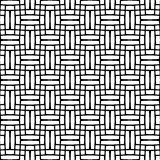 Seamlessly repeatable geometric monochrome pattern with distorte. D lines - Royalty free vector illustration Stock Image