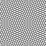 Seamlessly repeatable geometric monochrome pattern with distorte. D lines - Royalty free vector illustration Stock Photo