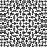 Seamlessly repeatable geometric monochrome pattern with distorte Stock Photos