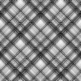 Seamlessly repeatable geometric pattern - Abstract monochrome ba Royalty Free Stock Photo