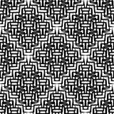 Seamlessly repeatable geometric pattern - Abstract monochrome ba. Ckground, texture - Royalty free vector illustration Stock Image