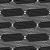 Seamlessly repeatable geometric pattern - Abstract monochrome ba. Ckground, texture - Royalty free vector illustration Stock Images