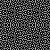 Seamlessly repeatable geometric pattern - Abstract monochrome ba. Ckground, texture - Royalty free vector illustration Royalty Free Stock Photos