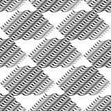 Seamlessly repeatable geometric pattern - Abstract monochrome ba. Ckground, texture - Royalty free vector illustration Royalty Free Stock Image