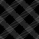 Seamlessly repeatable geometric pattern - Abstract monochrome ba Royalty Free Stock Photography