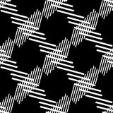 Seamlessly repeatable geometric pattern - Abstract monochrome ba Stock Photography