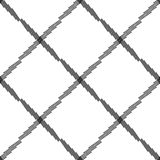 Seamlessly repeatable geometric pattern - Abstract monochrome ba Royalty Free Stock Photos