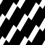 Seamlessly repeatable geometric pattern - Abstract monochrome ba. Ckground, texture - Royalty free vector illustration Stock Photography