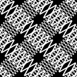 Seamlessly repeatable geometric pattern - Abstract monochrome ba Stock Images