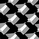 Seamlessly repeatable geometric pattern - Abstract monochrome ba. Ckground, texture - Royalty free vector illustration Stock Photo