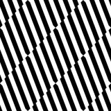 Seamlessly repeatable geometric pattern - Abstract monochrome ba. Ckground, texture - Royalty free vector illustration Royalty Free Stock Photography