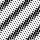 Seamlessly repeatable geometric pattern - Abstract monochrome ba Royalty Free Stock Images
