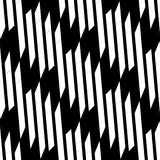 Seamlessly repeatable geometric pattern - Abstract monochrome ba Stock Image