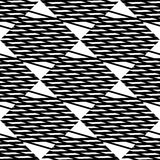 Seamlessly repeatable geometric pattern - Abstract monochrome ba Stock Photos